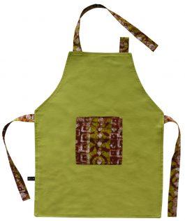 Tablier de cuisine enfant vert anis «Ziévaso»