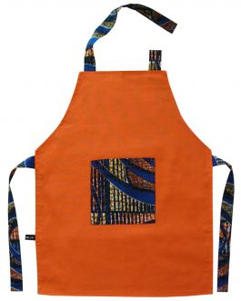 Tablier de cuisine enfant orange « Bouaké »