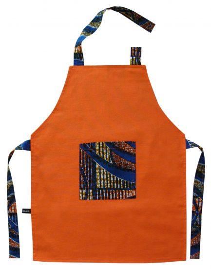 Tablier de cuisine enfant orange «Bouaké»