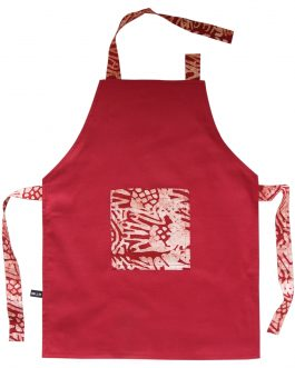 Tablier de cuisine enfant rouge «Néma»