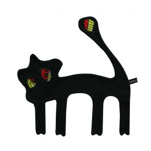 Doudou plat Lion noir tropical Raisa