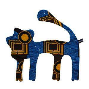 Doudou plat Lion noir géométrique Bako