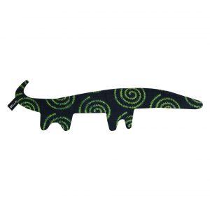 Doudou plat Crocodile vert en wax Zurhi