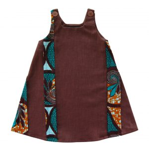 Robe en lin marron chocolat et wax Lodga